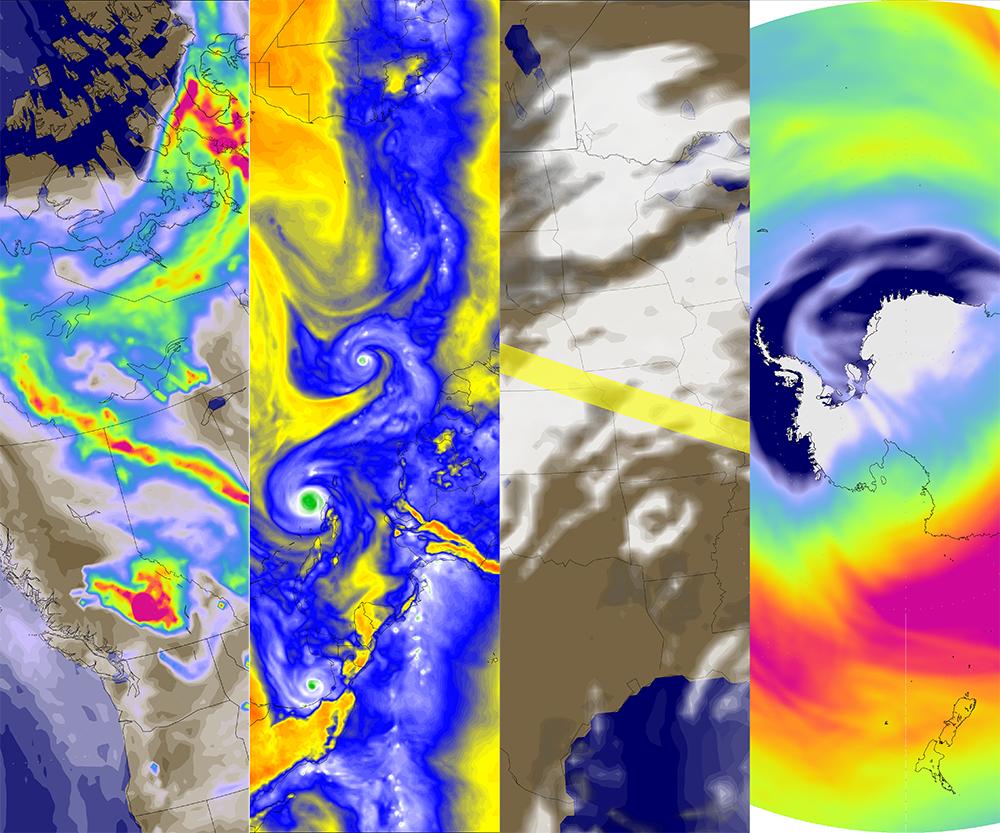 NASA@SC17: GMAO GEOS Data in Motion